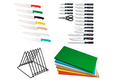 Tablas de picar y cuchillos
